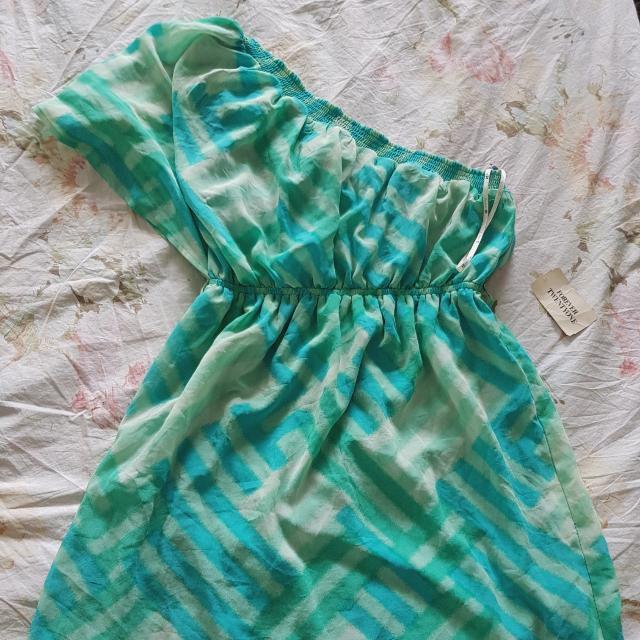 Forever 21 Green One Shoulder Dress