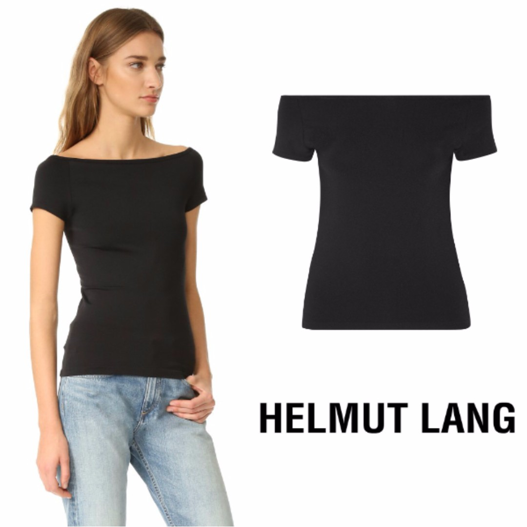 515d3b0dbb9a55 HELMUT LANG Off Shoulder Seamless Top  IMPORTED FROM USA