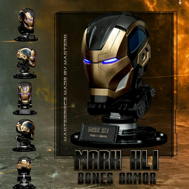 Iron Man Mark 41 Bones 1 1 Helmet Not Wearable For Display With Lights Limited Edition 448 Pieces Worldwide