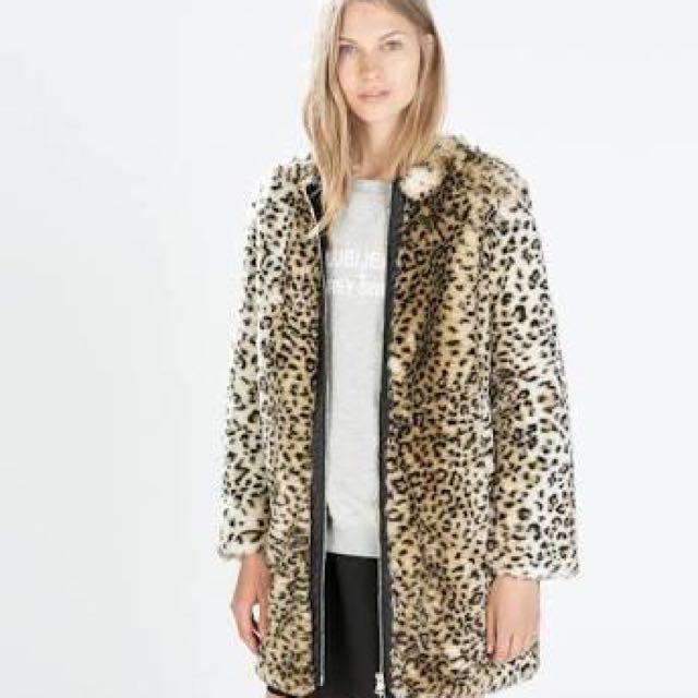 Leopard Zara Fur Coat