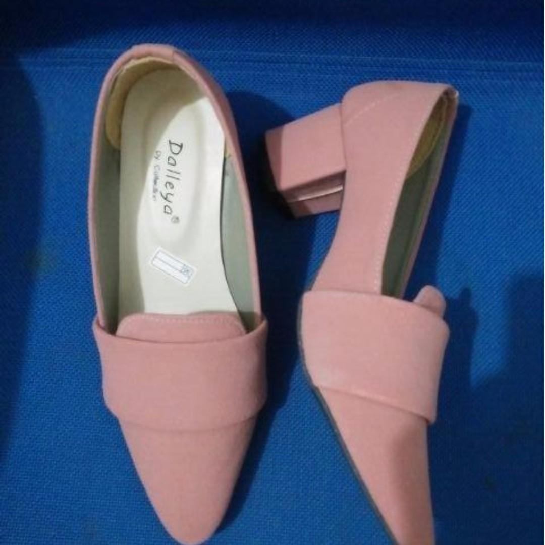 Lil sepatu heel heels pantopel kerja simple polos casual best seller