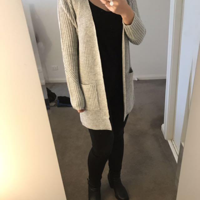 Long Grey Knit