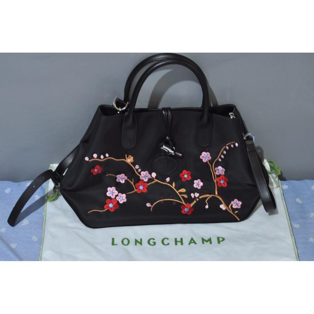 Longchamp Roseau Sakura Floral
