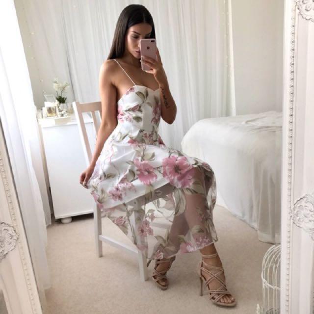 Lorene Dress Pink Floral 6 8 10 12