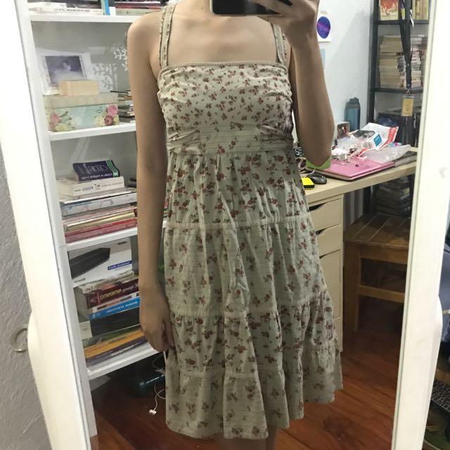 MANGO Vintage Style Floral Dress