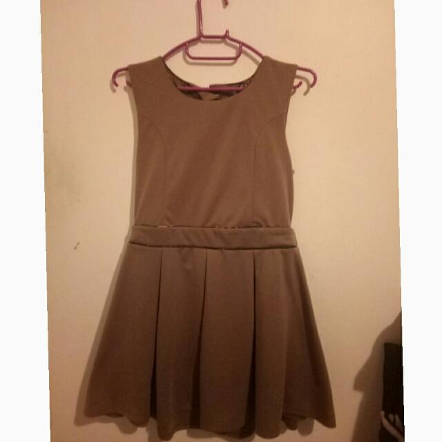 Mini Brown Skater Dress