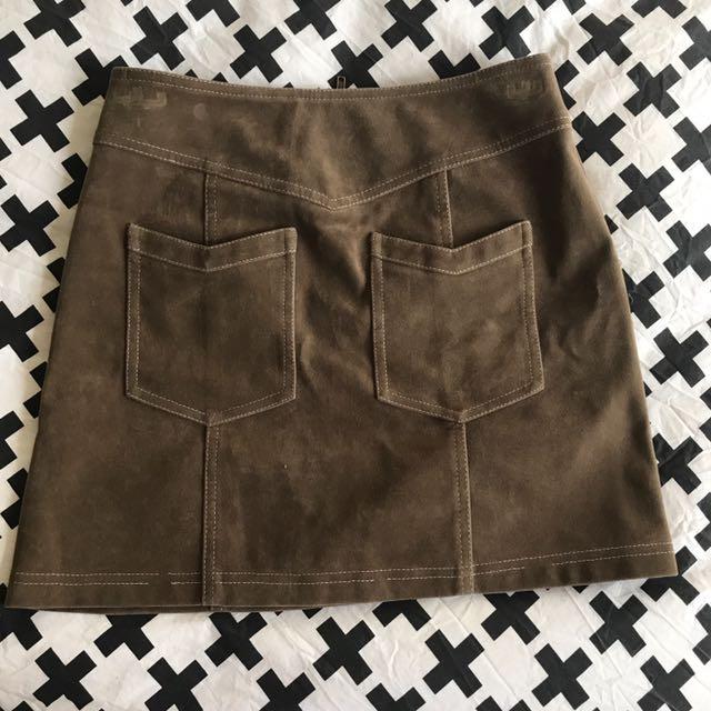 Minkpink Suedette Mini Skirt FESTIVAL-BOHO