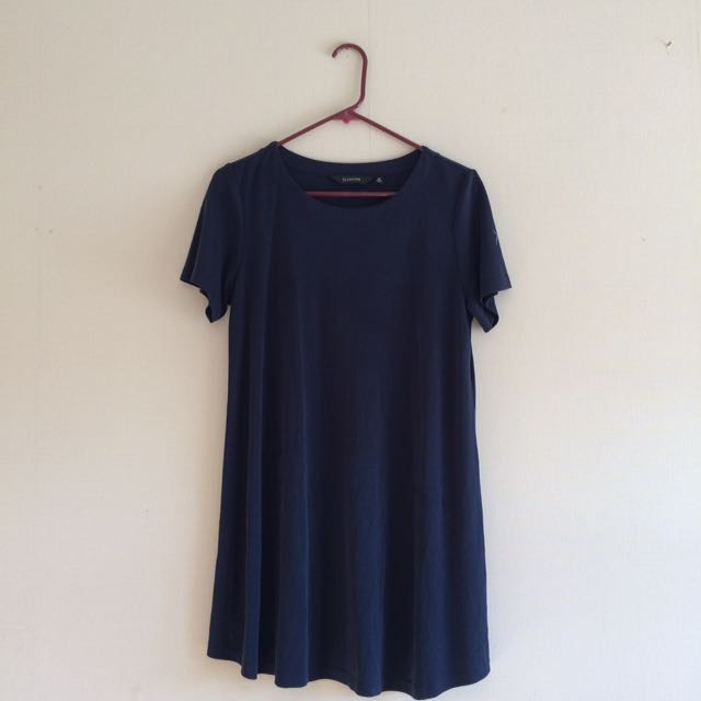 Navy T-shirt Dress - Glassons