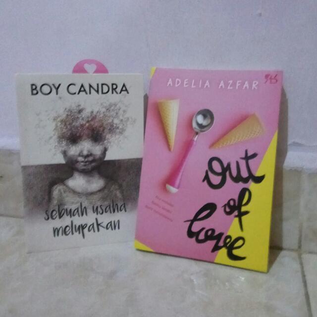 Novel (Sebuah Usaha Melupakan, Out Of Love)