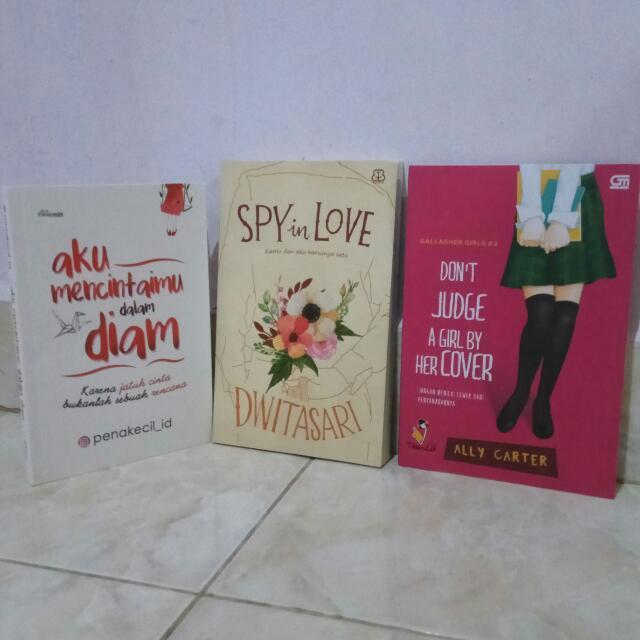 Novel (Spy In Love, Aku Mencintaimu dalam diam, Don't Judge A Girl By It's Cover)