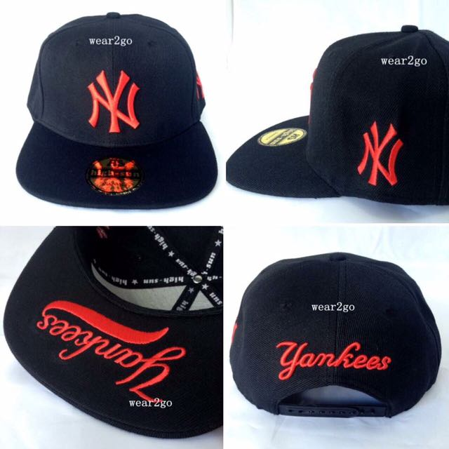 NY YANKEES in Black Color & Red Logo