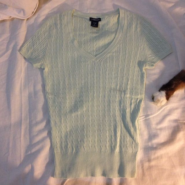 ORIGINAL GAP Mint Knitted Sweater Tee