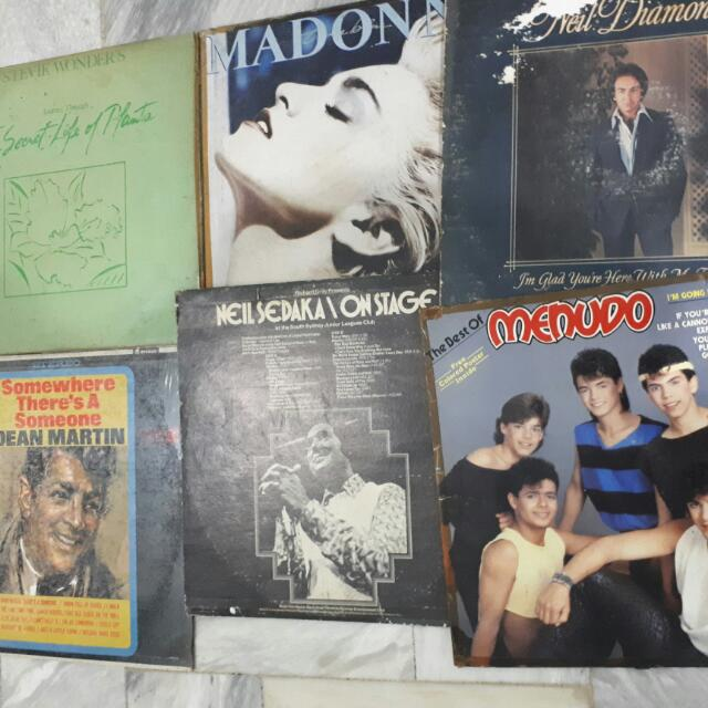 Original Vintage Vinyl Records Famous Artists