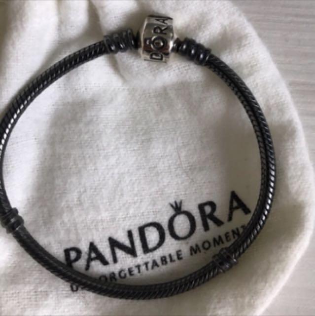 Pandora氧化銀手鍊17cm
