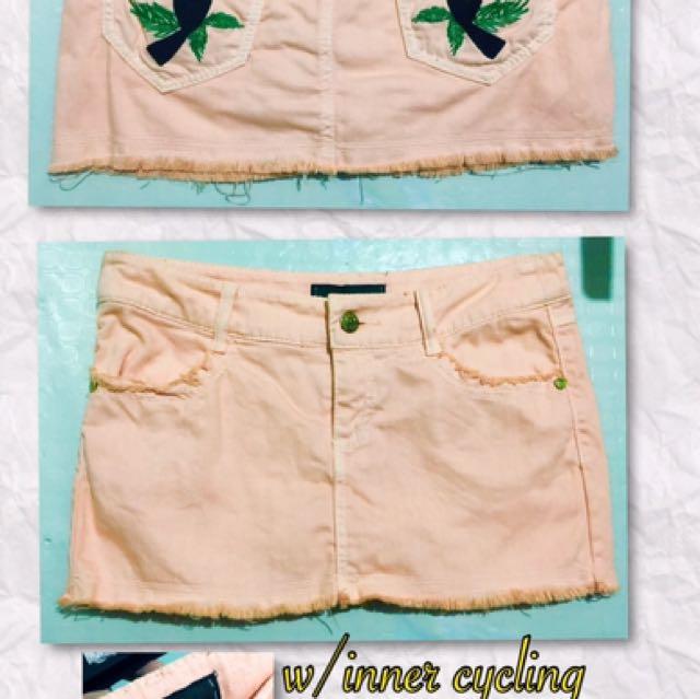 Patchy Peach Skirt
