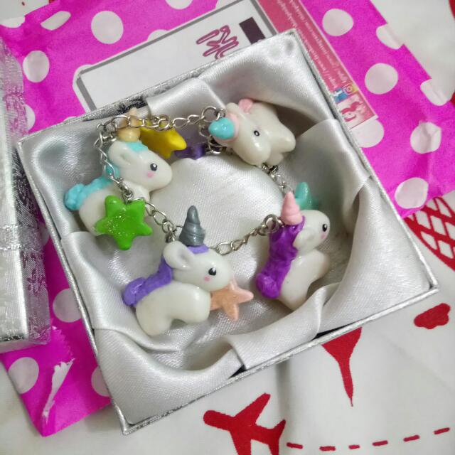 Personalized Unicorn And Stars Bracelet