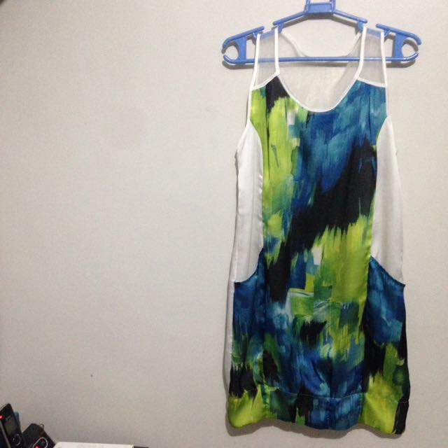 Plains & Print Dress