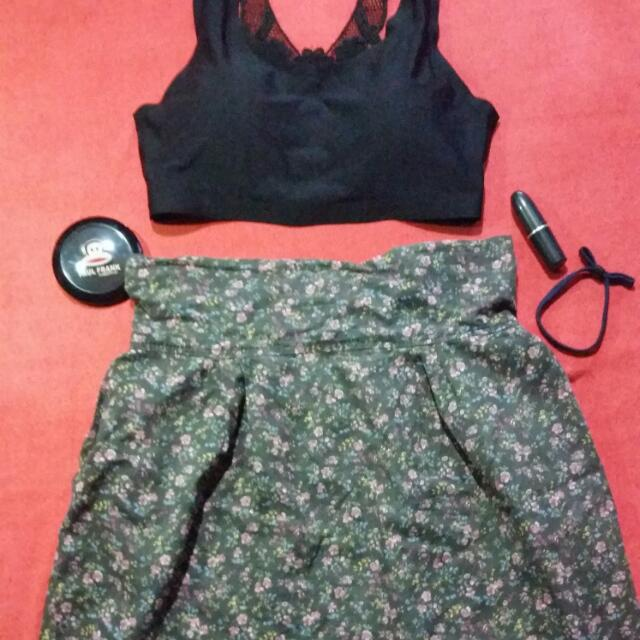 REPRICED! Pre-loved Floral Skirt