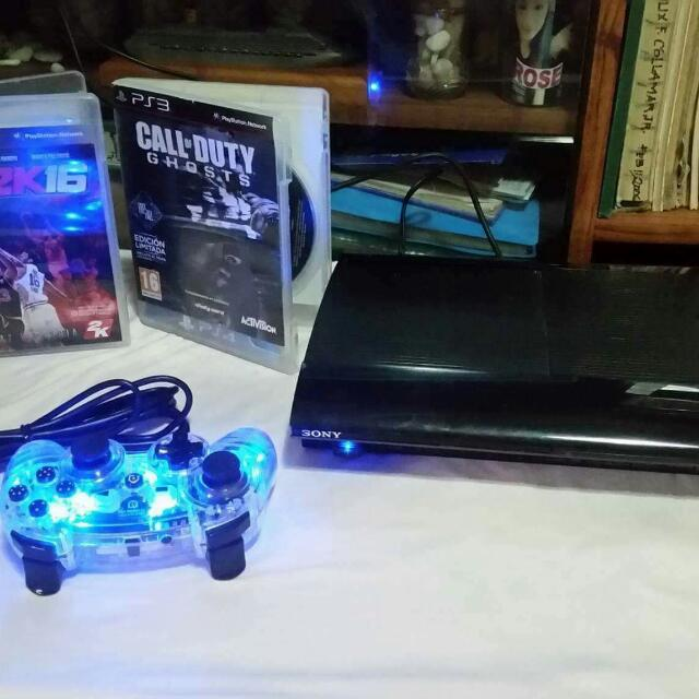 PS3 500 GB WITH NBA2K16 AND CALL OF DUTY