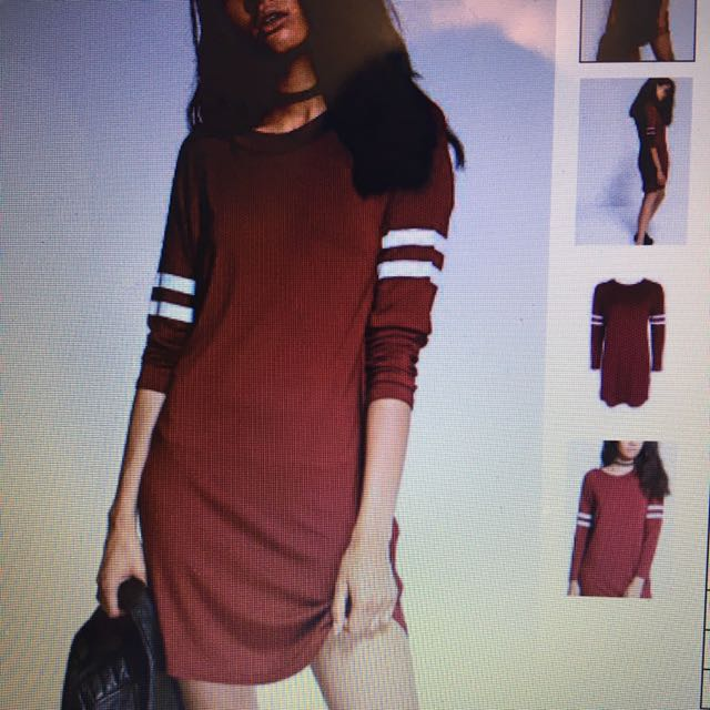 Red T Shirt Baseball Dress