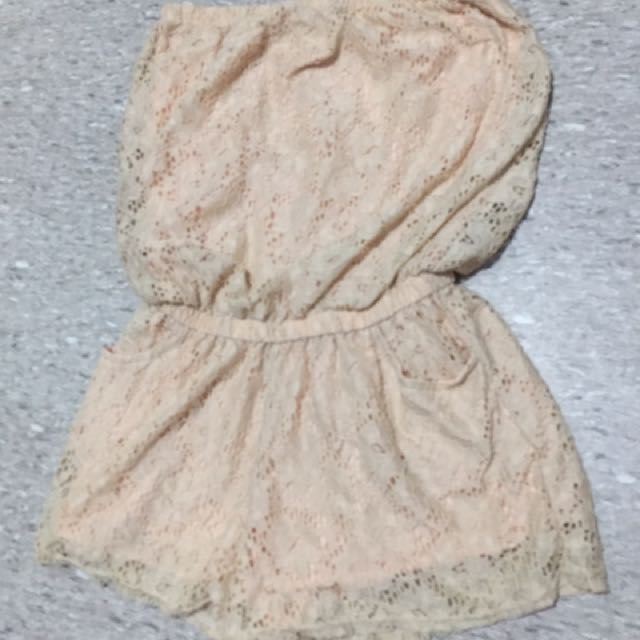 romper tube lace