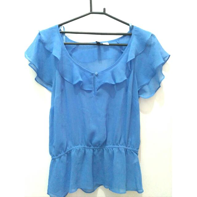 Ruffled Blouse By HnM