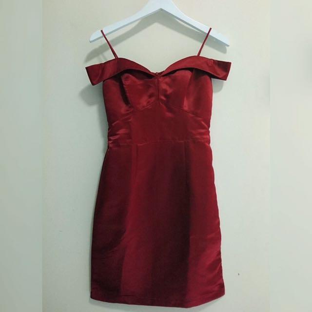 Sabrina Red Dress