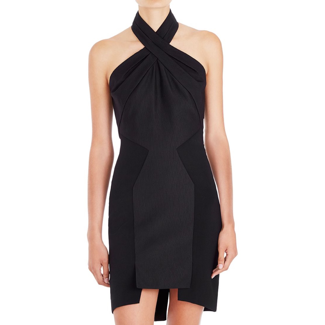 Sass & Bide - Magnetic Pull Halter Dress - Black - Size 8 - BNWT - RRP $550