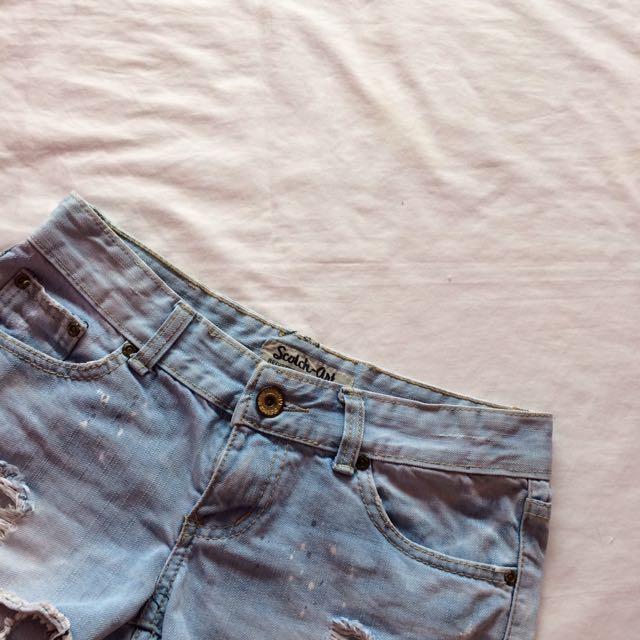 Scotch-art Ripped Shorts