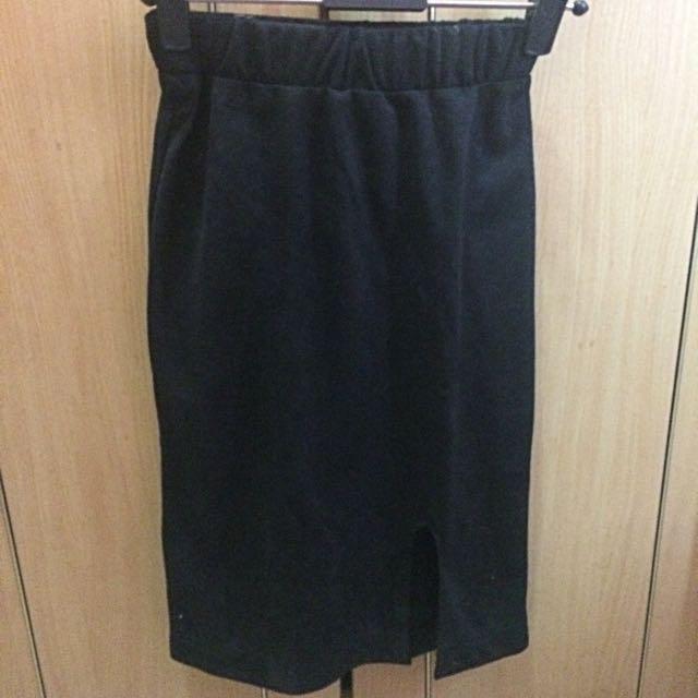 Slit Knee Skirt