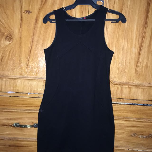 Sm Woman Black Bodycon Dress