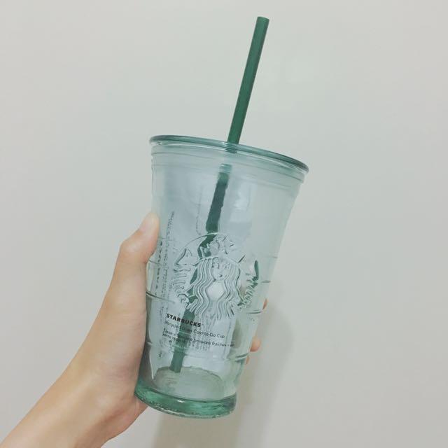 全新Starbucks 冷水杯 玻璃
