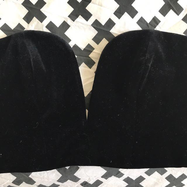 Strapless Top Bardot Size 8 Black