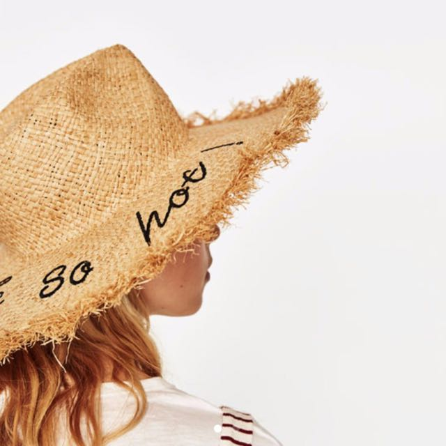 edd6097c Summer Straw Hat Zara, Women's Fashion, Accessories on Carousell
