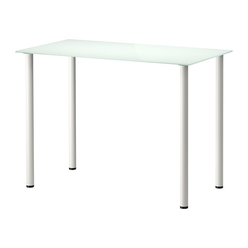 Tempered Glass Top Desk White 99x52 Cm Glasholm Ikea Furniture Tables Chairs On Carou