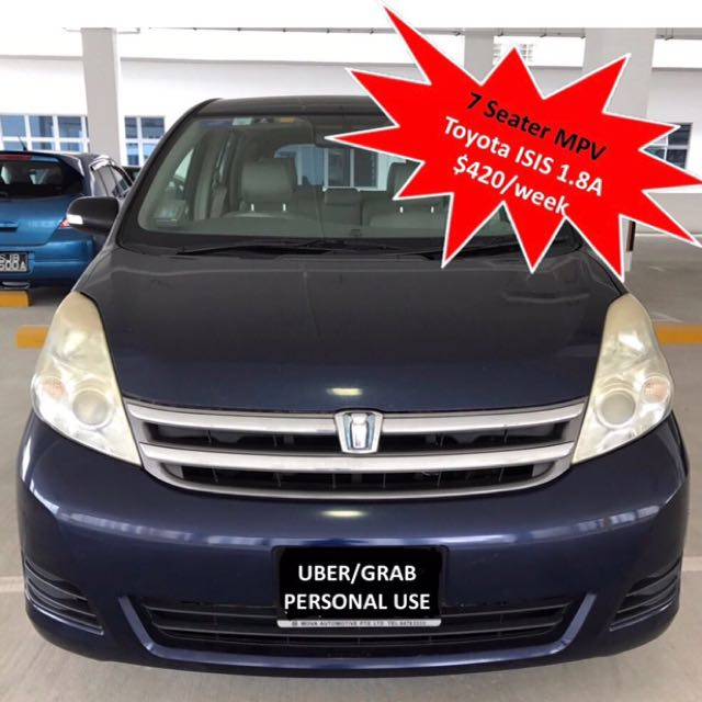 Toyota Isis 1 8a Mpv Blue For Rent Cars Vehicle Rentals On Carousell