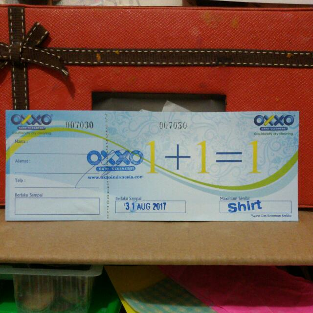 voucher OXXO dry cleaning