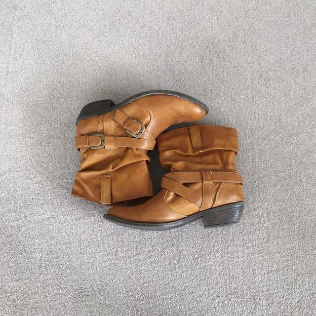 Western Buckle Boots By Aeropostale