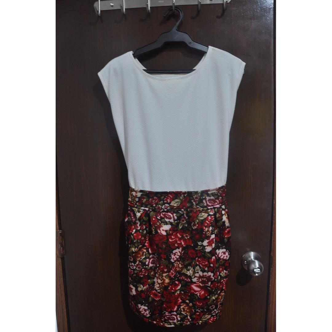 White & Floral Dress