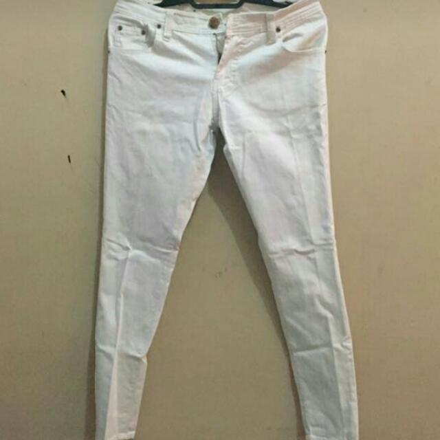 White Strech Jeans