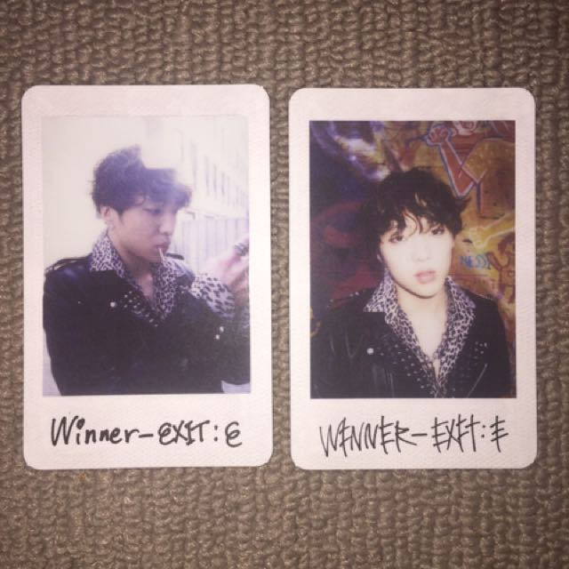winner exit e seungyoon photocards