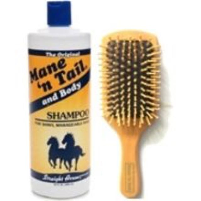 Wooden Hair Brush (Mane N Tail)