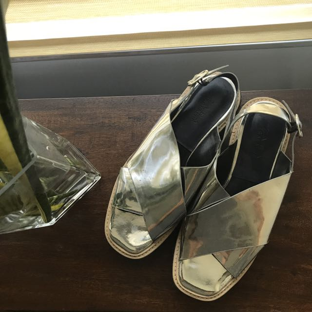 5db181588fa4 Zara Platform Sandals - Silver