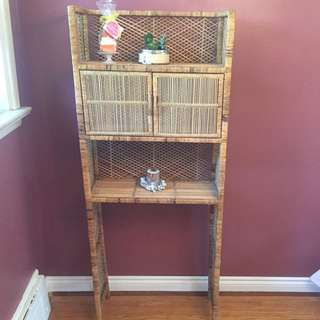 Wicker Bathroom Organizer
