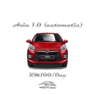 Perodua Axia 1.0 (A) For Rent Daily | Weekly | Monthly