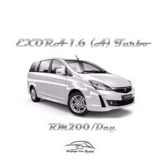 Proton Exora 1.6 (A) Turbo For Rent Daily | Weekly | Monthly
