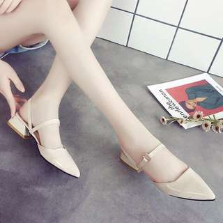 ⭐️(全館三件1000)女韓版 防滑防刮尖頭鞋