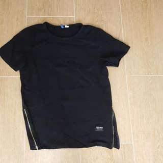 H&M Long T With Golden Zippers - Size Medium