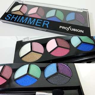 New ProFusion Eyeshadow & Used Estée Lauder Bronzer (Combo)