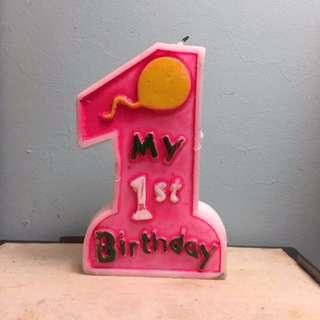 一歲蠟燭 立體蠟燭 週歲 紀念 攝影 道具